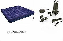 C&QI Beflocktes aufblasbares Bett Doppeltes Luftkissen Erhöhte Verdickung Luftmatratzen Hauptbett Bewegliches Bett im Freien, 6