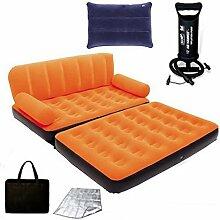 C&QI Einzelnes beflocktes aufblasbares Sofa