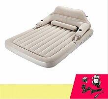 C&QI Einzelnes faules hinteres aufblasbares Bett automatische faltende tragbare Mittagspause Luftbettdoppelthauptmatratze dickes im Freien, c