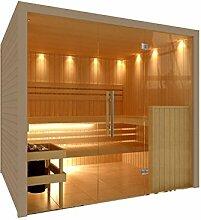 C-Quel Royal Sauna Glasfront 2266mm x 1955mm x 2040mm inkl. Zubehörset 9kW Saunaofen