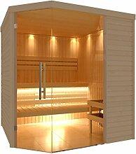 C-Quel Royal Sauna Glasfront Eckmodell 1940mm x 2090mm x 2040mm