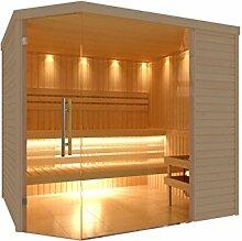 C-Quel Royal Sauna Glasfront Eckmodell 2260mm x 2090mm x 2040mm