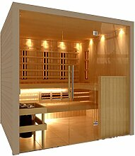 C-Quel Royal Sauna Infrarot Kombination Glasfront 1946mm x 1555mm x 2040mm