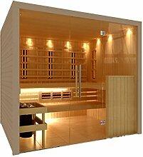 C-Quel Royal Sauna Infrarot Kombination Glasfront 2266mm x 1955mm x 2040mm inkl. Zubehörset 9kW Saunaofen