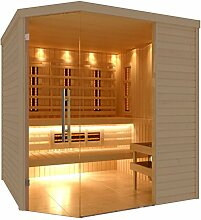 C-Quel Royal Sauna Infrarot Kombination Glasfront Eckmodell 1940mm x 2090mm x 2040mm