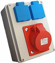 C6/2 Baustromverteiler / Wandverteiler 1 x CEE 16A & 2 x Schuko 230 V
