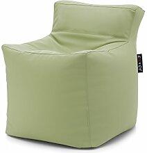 Cab Sitzsack Weich Zitrone 45x 45, H. 58Relax Sitzsack aus Kunstleder gefüllt mit Polystyrolkügelchen déhoussable. auch erhältlich in lila, weiß, rot, schwarz, orange, blau, beige.