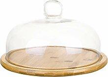 Cabilock 1 Set Kuchenständer Glasglocke Glas