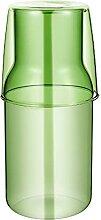 Cabilock 1 Set Nachttisch Wasserkaraffe Glas Set