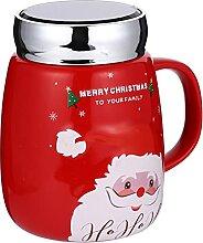 cabilock 1Pc Keramik Becher Tasse Weihnachten Stil