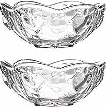 Cabilock 2 Stück Glasschale Schüssel Glas Klare