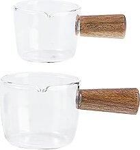 Cabilock 2 x Glaskännchen Mini-Soßenkrug