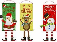 Cabilock 3Pcs Weihnachten Hängen Flagge Tür