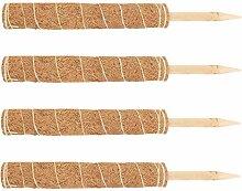 Cabilock 4 Stück Kletterpflanzen Moos Stange