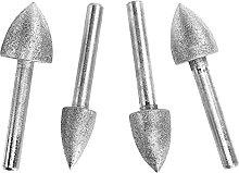 Cabilock 4Pcs Diamant Schleifen Burr Bohrer