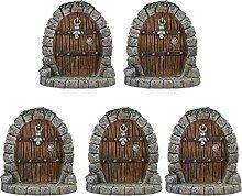 Cabilock 5 Stücke Feenhaus Tür Miniatur Feentür