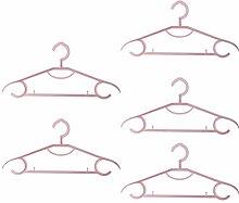 Cabilock 5Pcs Kleiderbügel Kunststoff Spurlose