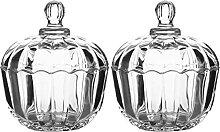 Cabilock Bonboniere Glas Schale mit Deckel 300ml 2