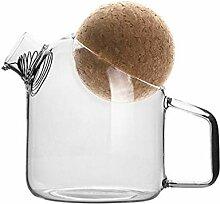 Cabilock Glas Krug mit Korken Glas Tee