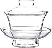 Cabilock Glas Tee Tasse mit Deckel Kaffee Becher