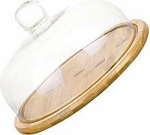 Cabilock Glasglocke mit Holzsockel,