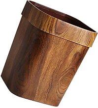 Cabilock Holz Mülleimer Bambus Müll Können