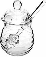 Cabilock Honigtopf aus Glas, transparent, 250 ml,