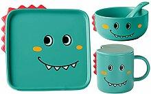 Cabilock Kindergeschirr Set Keramik Dinosaurier