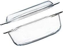 Cabilock Runde Glas Auflaufform 1L mit Deckel Glas