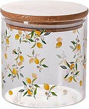 Cabilock Vorratsdose aus klarem Glas mit