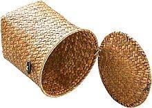 Cabilock Woven Abfall Korb Dekorative Runde