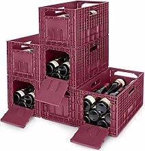 Cabka 6er Set WEINBOX - Das Flexible Weinregal,