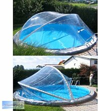 Cabrio Dome für Rundbecken bis 5,50 m Schwimmbad Überdachung