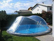Cabrio Dome für Rundbecken bis 6,00 m Schwimmbad Überdachung