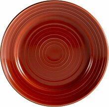 CAC China Tango Porzellan-Teller, rund 12-Inch ro