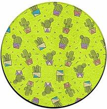 Cactus Kreis Shaggy Teppich Runde Form für Schlafzimmer Wohnzimmer Teppich/Fußmatte/Anti-Rutsch