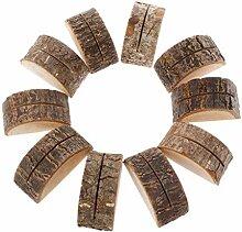 CADANIA 10 Stück Rustikale Naturholz Tisch Name