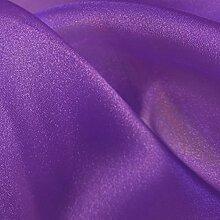 Cadbury Lila Kristall Organza Stoff 150cm Breite Hochzeit Venue Fancy Kleid Schneidern Organza Stuhl Schleifen Schärpen Stoff (wählen Sie Ihre Länge) viole