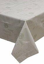 Cadeau, Tischdecke Weihnachten rechteckig für 6vallesusa Metall