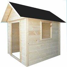 CADEMA Gartenhäuschen für Kinder - Holz Kinderspielhaus 1,7 x 1,7 m