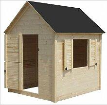 CADEMA Gartenhäuschen für Kinder - Holz Kinderspielhaus 1,7 x 1,7m