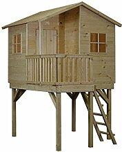 CADEMA Gartenhäuschen für Kinder - Holz Kinderspielhaus 1,8 x 1,4m, 16mm