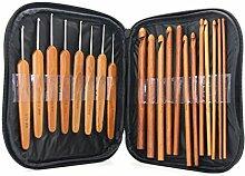 Cadillaps Winter Stricknadeln Set 20 Unterschiedlich Größe Holz Nadeln für DIY Strickhandschuhe Wolldecke