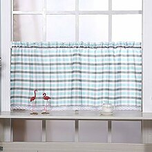 Cafe Curtains Scheibengardinen Modern Blau