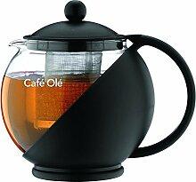 Café Ole Teekanne aus Glas mit Filtereinsatz 1,20