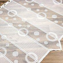 Cafehaus-Gardine, Kreise, weiß, 90 cm breit,