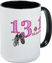 CafePress–13,1Pink Großer Becher–Kaffee Tasse, groß 15Oz Weiß Kaffee Tasse Large White/Black Inside