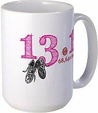 CafePress–13,1Pink Großer Becher–Kaffee Tasse, groß 15Oz Weiß Kaffee Tasse Large weiß