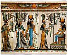 CafePress–Antike Ägyptische Wand Gobelin–weicher Fleece Überwurf Decke, 127x 152,4cm Stadion Decke, weiß, 50x60