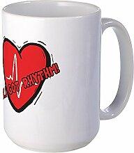 CafePress–Cardiac Rhythm–Großer Becher